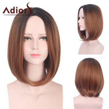 Adiors Medium Straight Bob Center Part Colormix Synthetic Wig