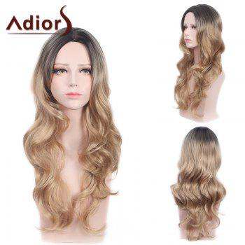Adiors Long Soft Waves Center Part Colormix Synthetic Wig