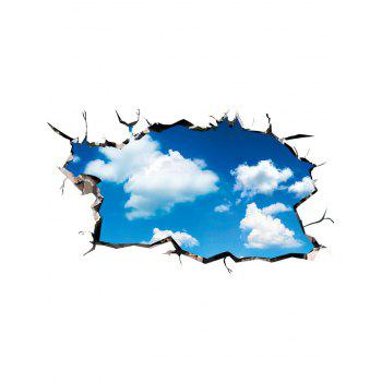 Ceiling Floor 3D Cloudy Sky Wall Art Sticker