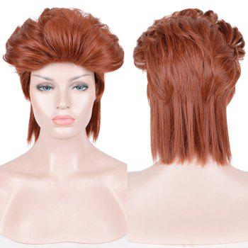 Short Slicked Back Straight Synthetic Cosplay Anime Wig