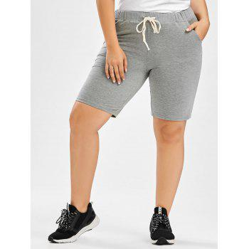 Drawstring Plus Size Sweat Shorts
