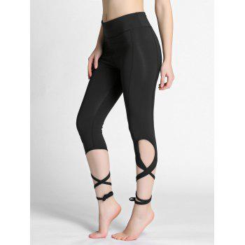 High Waist Lace Up Gym Leggings