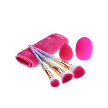 Sponge Puff Brush Egg Towel Makeup Brushes Set -  multicolorCOLOR