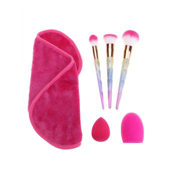 Sponge Puff Brush Egg Towel Makeup Brushes Set - MULTICOLOR multicolorCOLOR