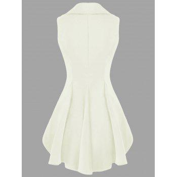 Double Breast Lapel High Low Dressy Waistcoat - OFF WHITE OFF WHITE