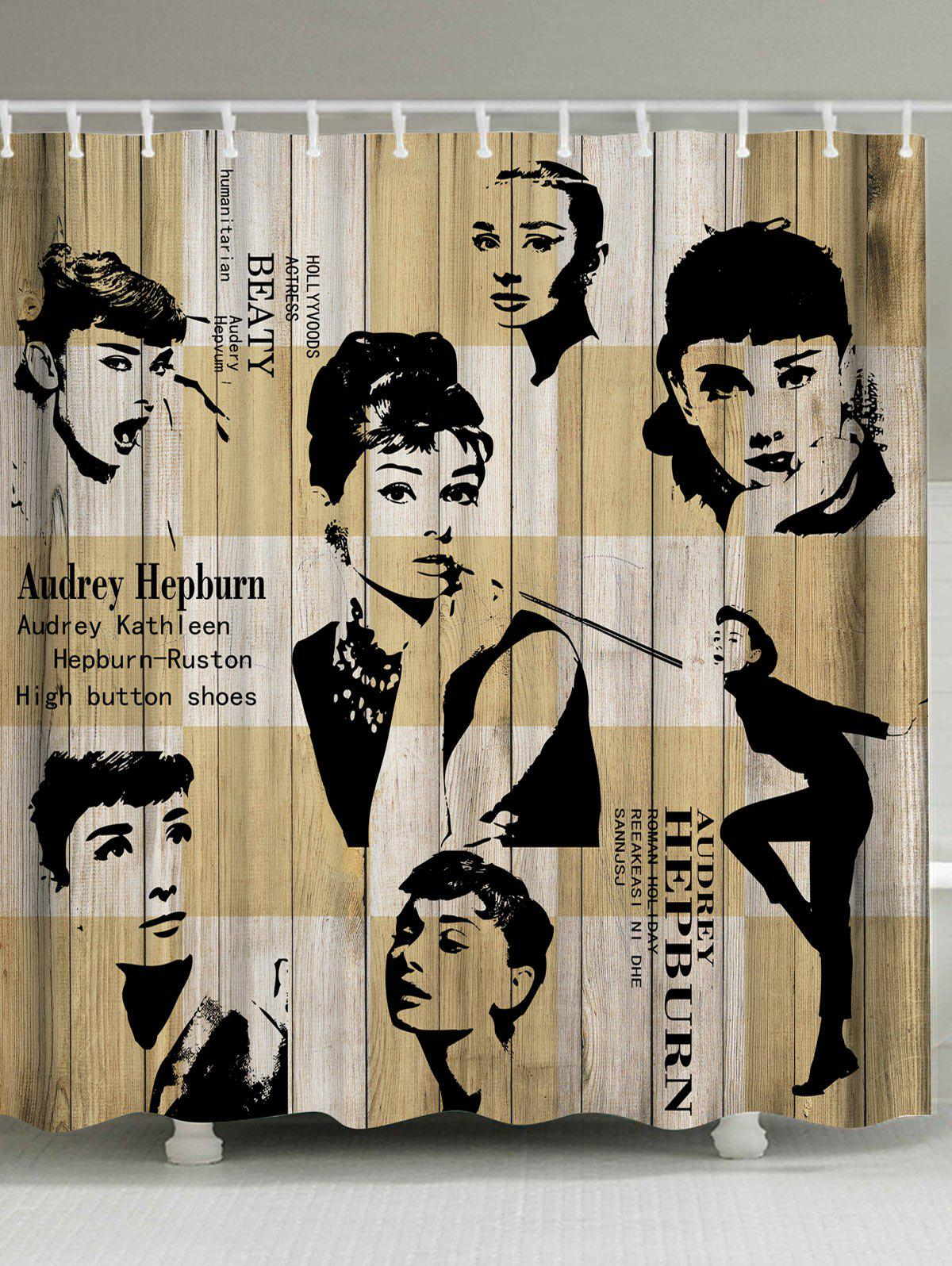 Waterproof Fabric Audrey Hepburn Shower Curtain new and original keyboard win8 for alw m17x r4 m18x r1 dpn 0gmcd3 us