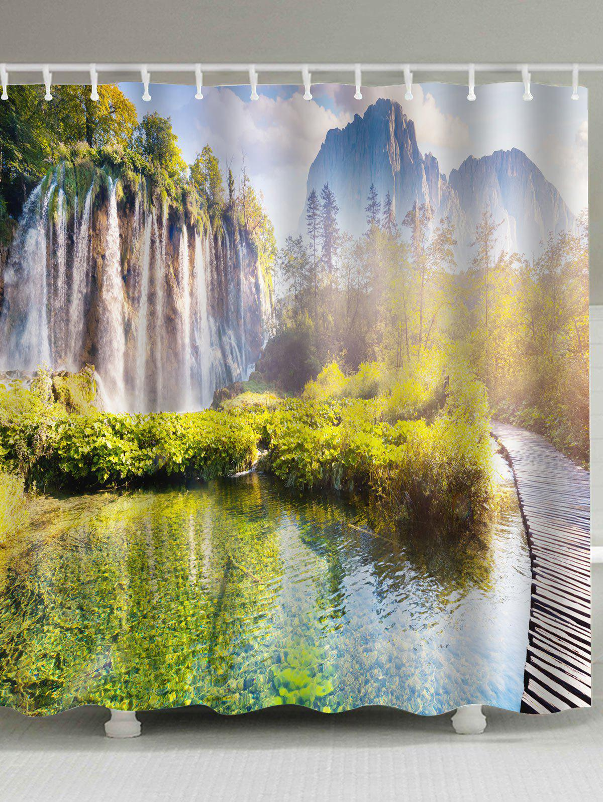 Eco-Friendly Nature Scenery Shower Curtain цена 2017
