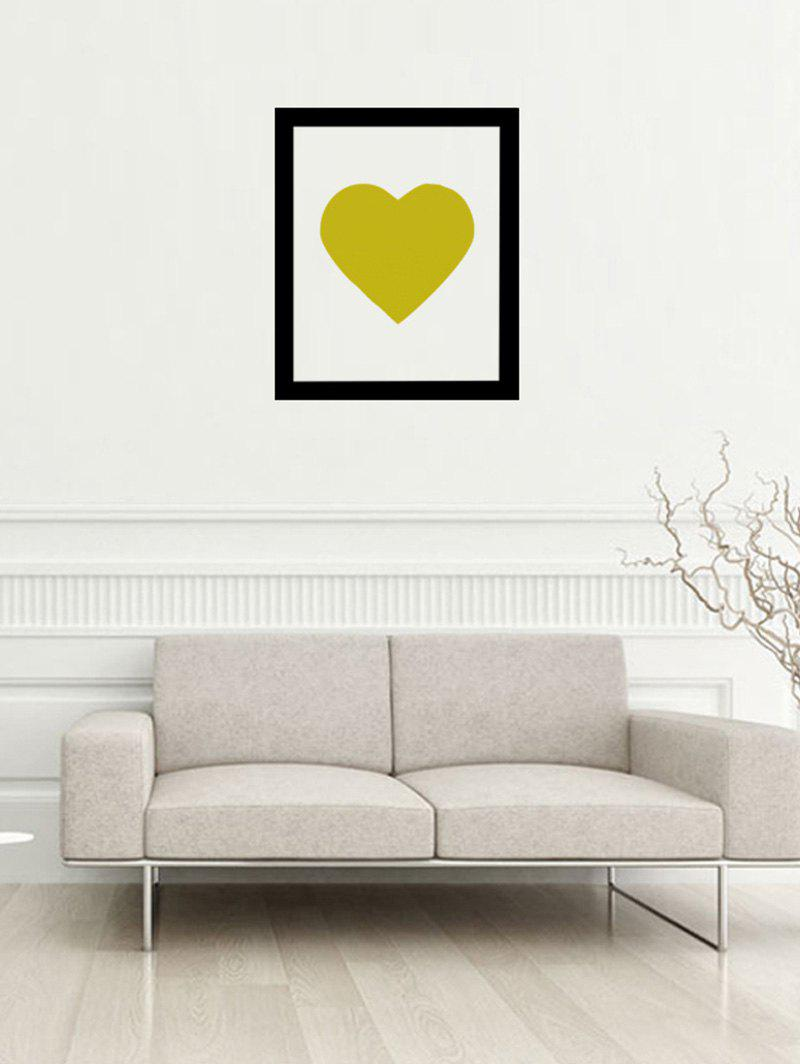 Photo Frame Heart Removable Wall Sticker - Curcumae 57*47CM