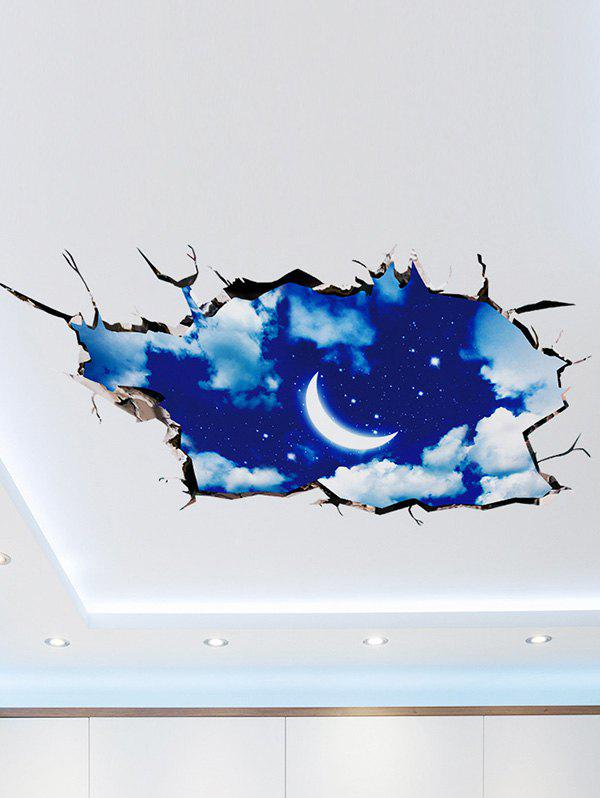 Removable 3D Night Sky Wall Art Sticker 3d blooming rose interior removable wall sticker