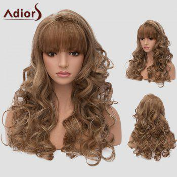 Adiors Layered Long Full Bang Wavy Highlight Synthetic Wig
