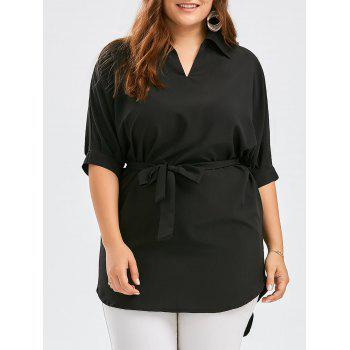 Plus Size V Neck Tunic Top