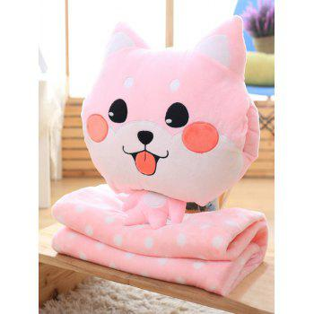 Boston Terrier Cushion Washable Detachable Velboa Pillow and Blanket - PINK PINK