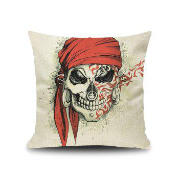 Pirate Skull Decorative Throw Pillow Case