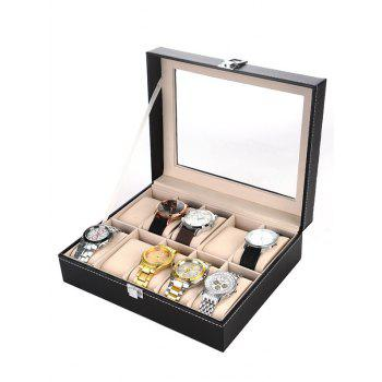 Collection Classic 10 Grids Leather Watches Case Display Box
