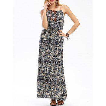Elastic Waist Bohemian Cami Dress