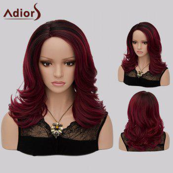 Adiors Medium Side Part Tail Upwards Colormix Synthetic Wig