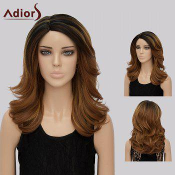 Buy Adiors Medium Side Part Tail Upwards Colormix Synthetic Wig BROWN
