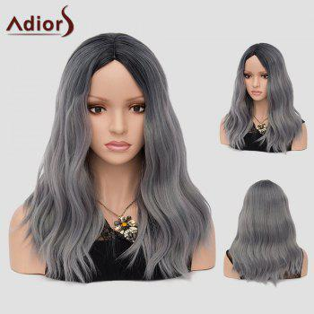 Adiors Long Beach Waves Ombre Center Part Synthetic Wig