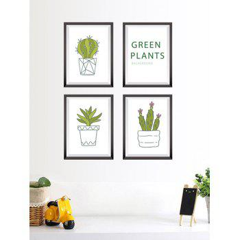 Cactus Plant Photo Frame Wall Stickers