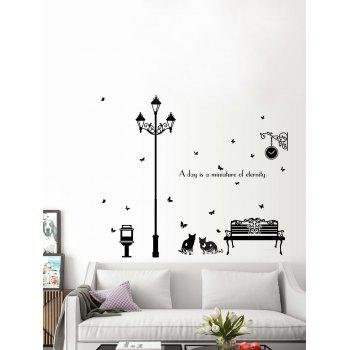 Removable Cat Butterfly Quotes Vinyl Wall Sticker