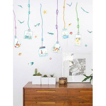 Wish Bottle Shell Seastar Fish Wall Sticker