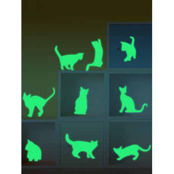 Glow In The Dark Cat Animals Wall Stickers