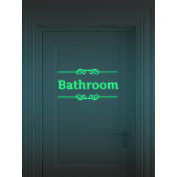 Bathroom Toilet Noctilucence Wall Sticker