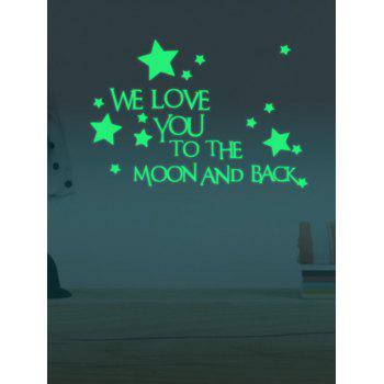 Luminous Star Quote Removable Stickers For Wall