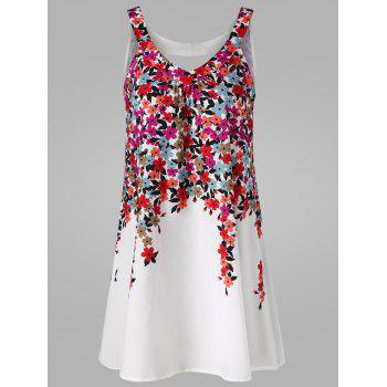 Cut Out Floral Mini Tent Dress
