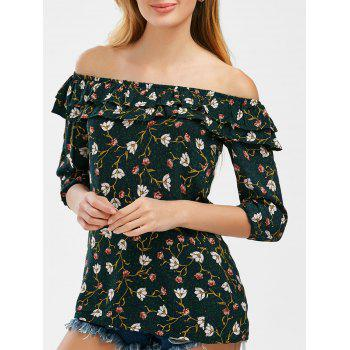 Flounce Floral Off The Shoulder Top
