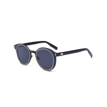 Round UV Protection Metal Frame Sunglasses