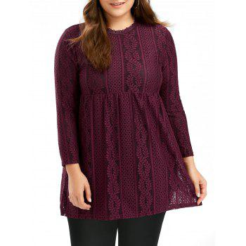 Plus Size Empire Waist Lace Top