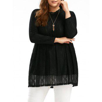 Plus Size Lace Empire Waist Long Top