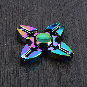 Colorful Stress Relief Toy Crab Clip Cross Fidget Finger Spinner - COLORMIX