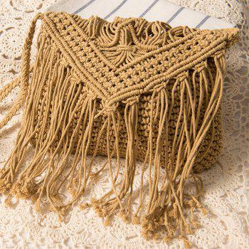 Cross Body Crochet Fringed Bag