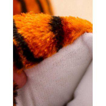 Leopard Print Tiger Stripes Bear Claw Peluche Talon Cover Couples Slippers - RAL Orange Foncé