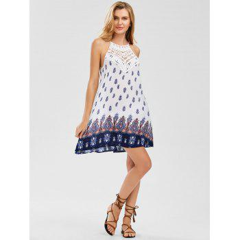 Cutwork Sleeveless Tie Back Dress - COLORMIX M