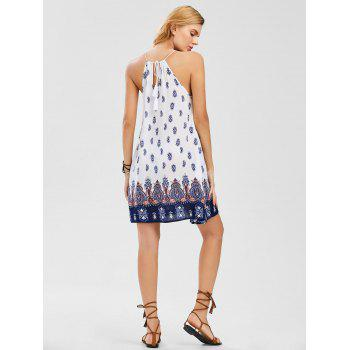Cutwork Sleeveless Tie Back Dress - COLORMIX XL