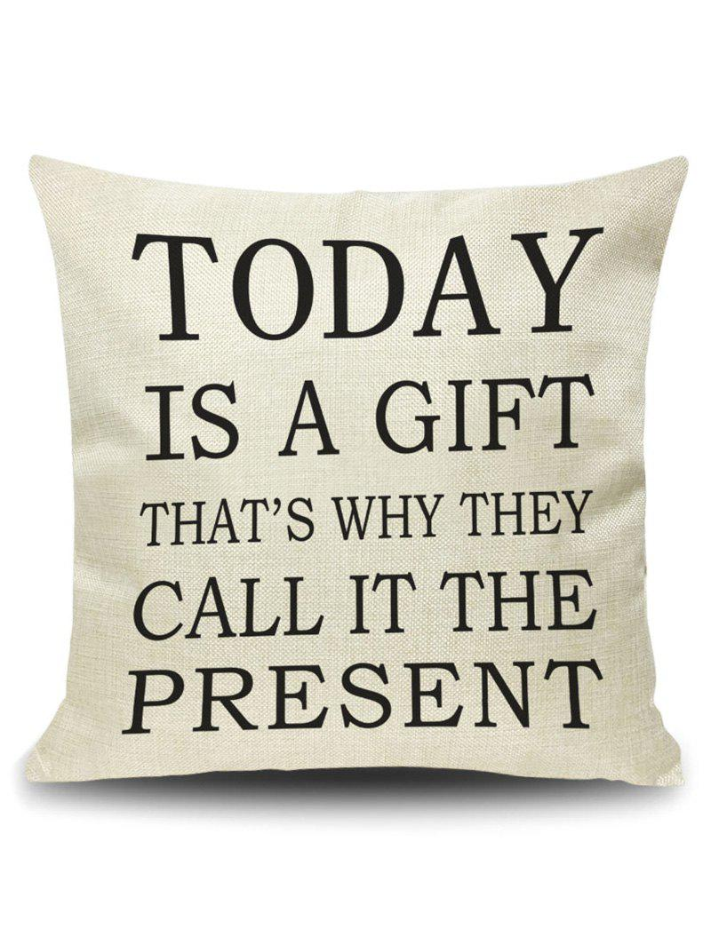 Letter Today Quote Printed Pillow Case Cover