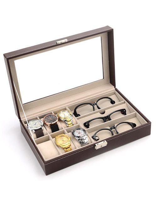 Collection Classic 9 Grids Leather Watches and Glasses Case Display Box jinbei em 35x140 grids soft box