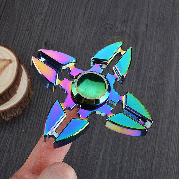 Colorful Stress Relief Toy Crab Clip Cross Fidget Finger Spinner 10pcs new hand spinner revolver bullet clip spinner can rotate 8 mins fidget spinner anti stress metal material gold finger toy