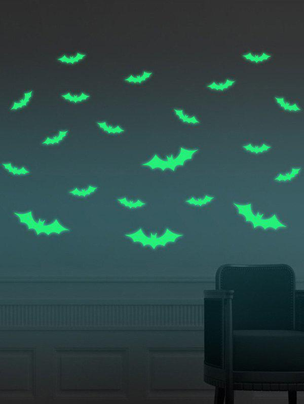 Cartoon Noctilucence Bat Wall Stickers For Kids - Fluorescente Verte 56*8CM