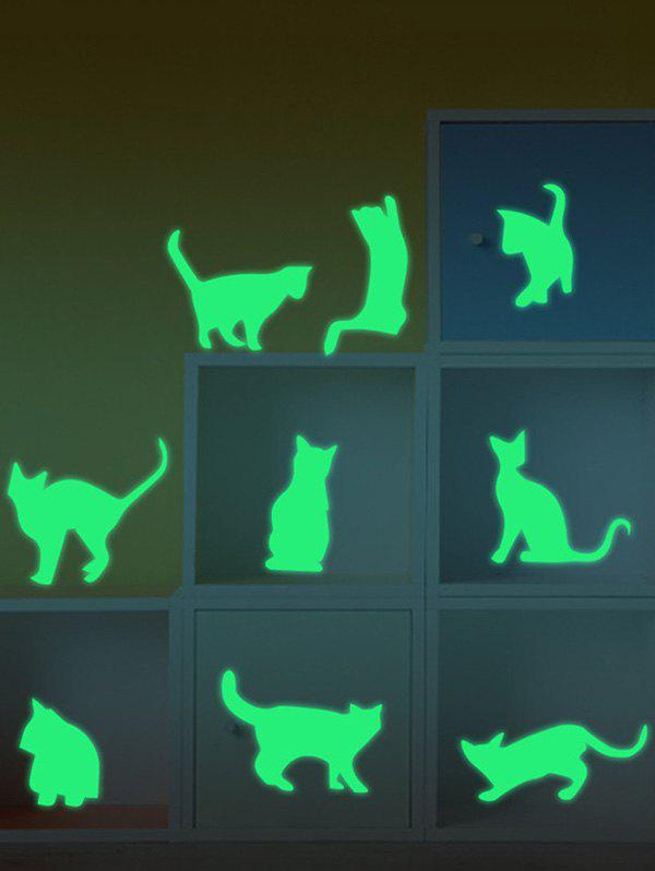 Glow In The Dark Cat Animals Wall Stickers glow in the dark cat animals wall stickers