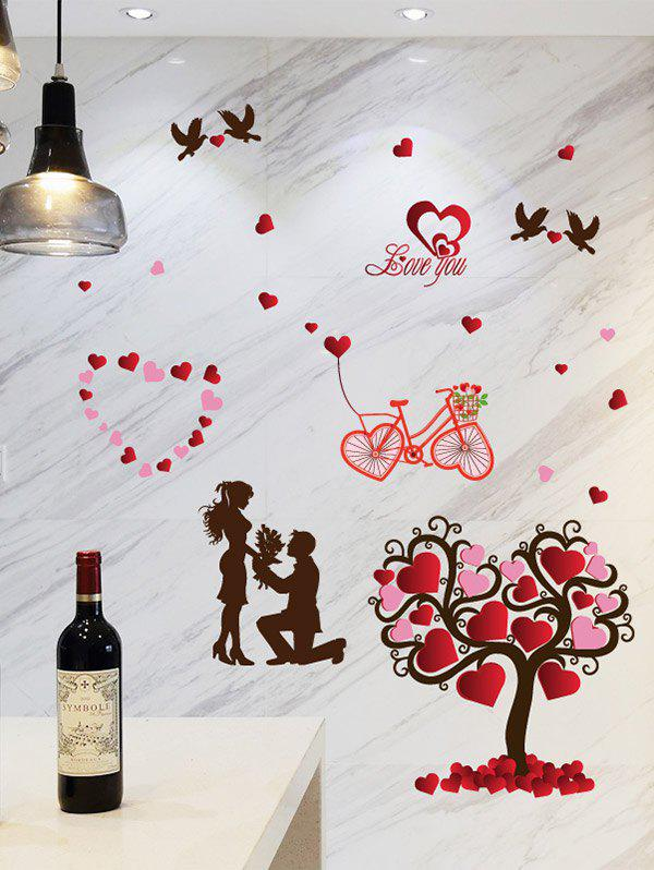 Tree Heart Love You Sticker mural - Noir 60*90CM