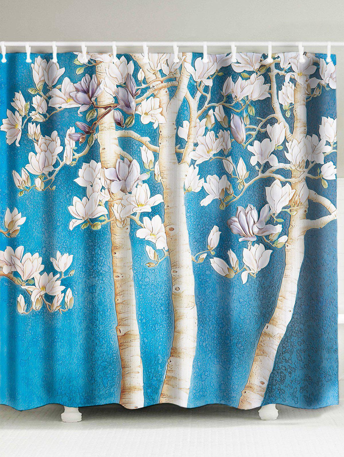 2018 Peach Blossom Shower Curtain LIGHT BLUE W INCH L INCH In Shower ...
