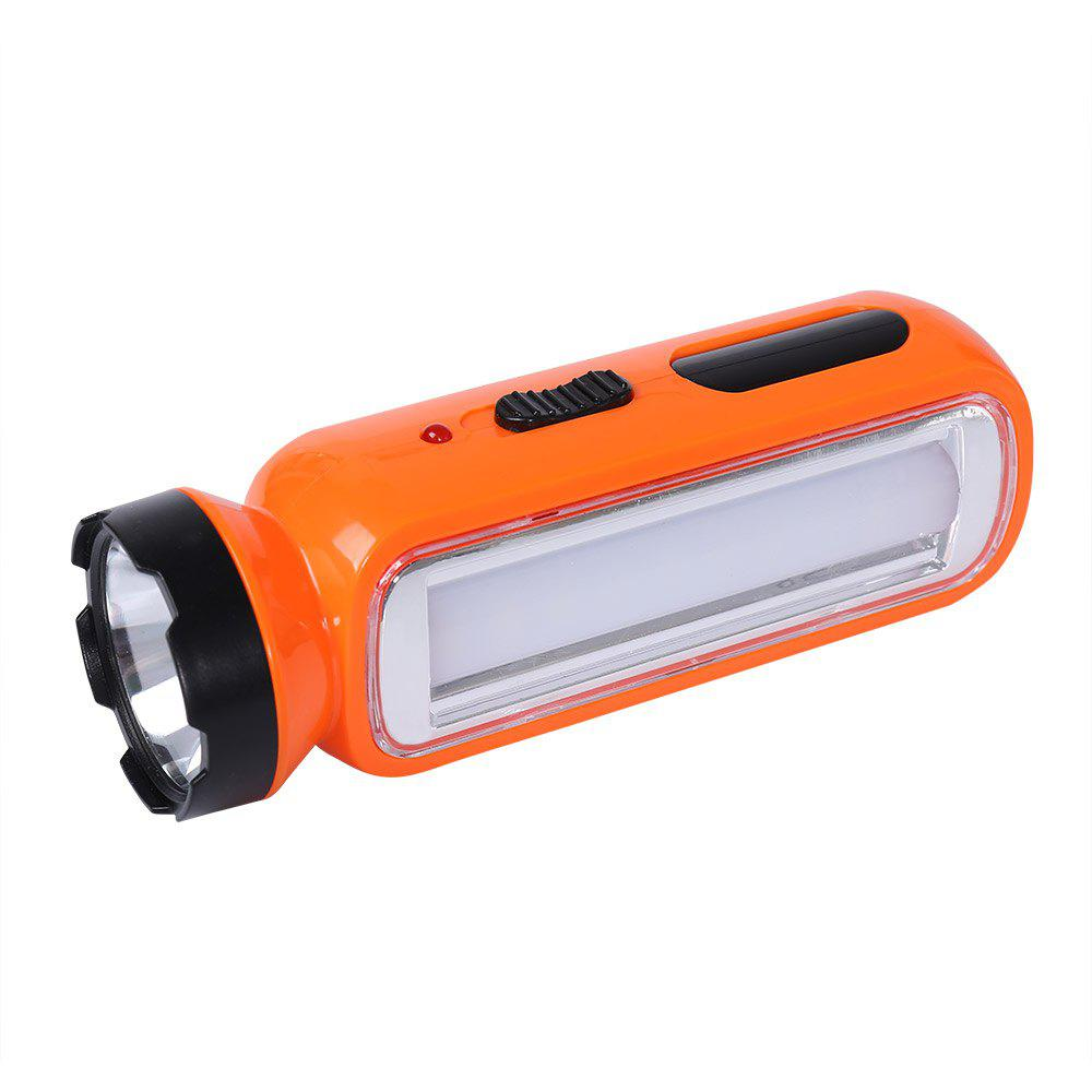 Multifunctional LED Rechargeable Flashlight - ORANGE