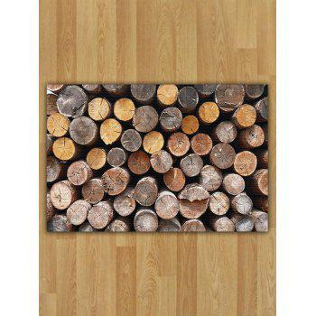 Flannel Nonslip Wood Print Area Rug