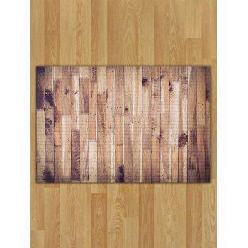 Skidproof Flannel Wood Pattern Area Rug