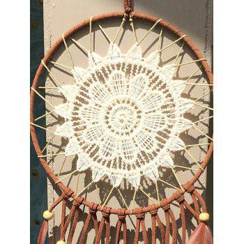 Dreamcatcher Feather Crochet Flower Hang Décoration intérieure - multicolorcouleur