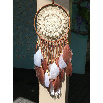 Dreamcatcher Feather Crochet Flower Wall Hanging Home Decoration